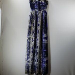 Parker Printed Silk Strapless Maxi Dress Size XS